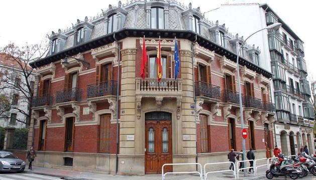 Fachada de la Cámara de Comercio de Navarra. Aquí se impartirá el ciclo de FP a partir de septiembre.