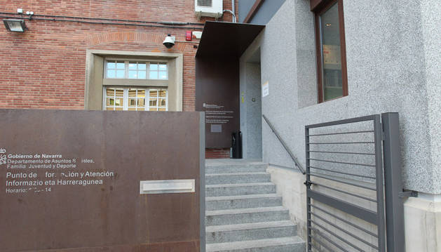 Acceso al departamento de Derechos Sociales en Pamplona.