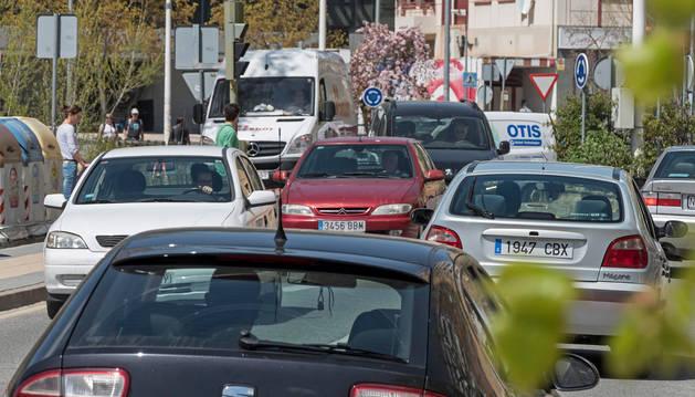 Tráfico en Estella.