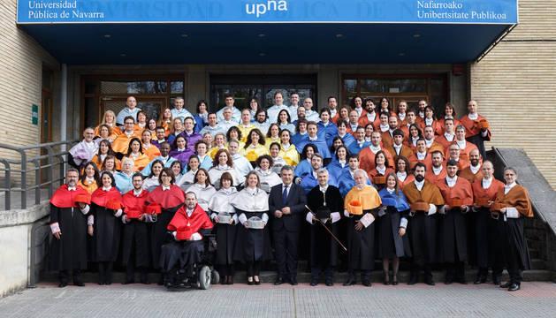La UPNA celebra el acto de investidura de 178 nuevos doctores y doctoras