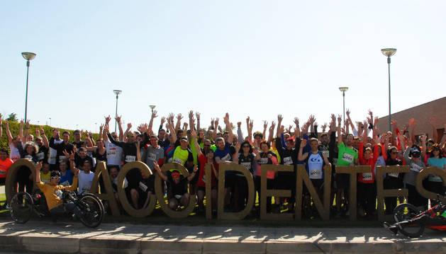 Foto de las empresas que han participado en la carrera con el lema '0 Accidentes'.