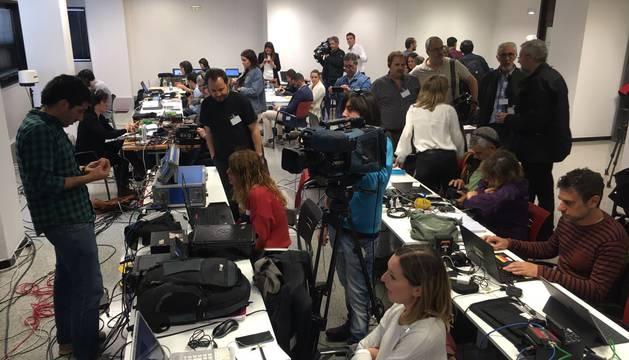 Los periodistas, en la Audiencia, ante la sentencia de la Manada