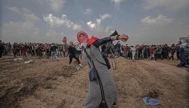 Imagen de las protestas de la Gran Marcha del Retorno.