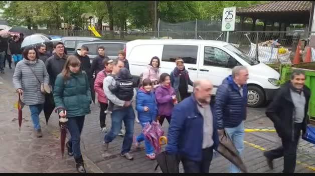 Manifestación del sábado en Elizondo