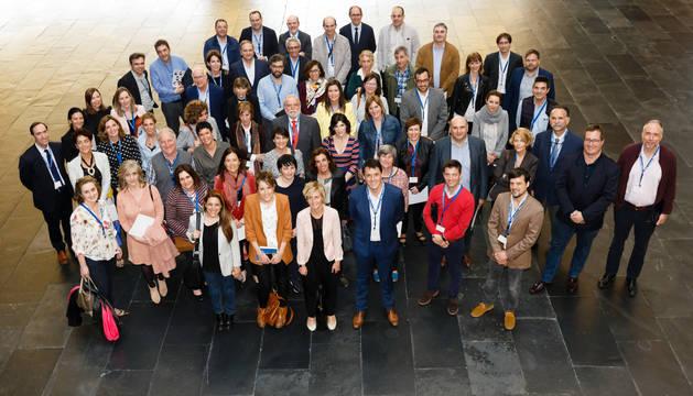 Miembros de Aedipe Navarra, a la conclusión de la Asamblea Anual de la asociación celebrada en Baluarte.