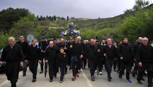 La tradicional marcha mariana de Tafalla cumplió 975 años este domingo 29 de abril de 2018.