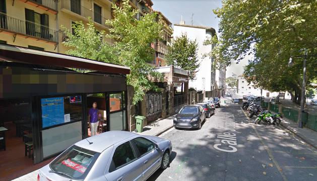 Cuesta del Labrit en Pamplona, donde se produjo la presunta agresión homófoba.