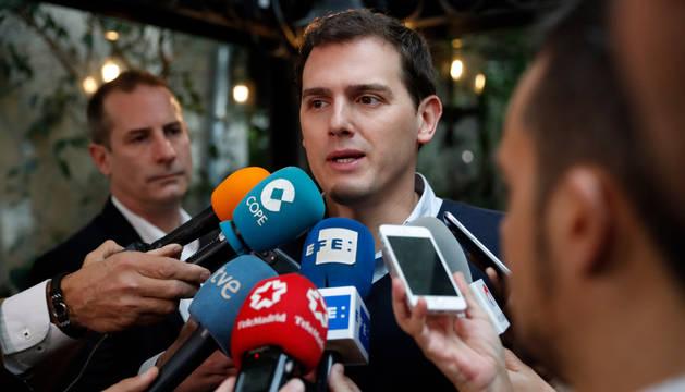 Albert Rivera, este jueves durante un encuentro con medios de comunicación en el último día de su visita a Buenos Aires.