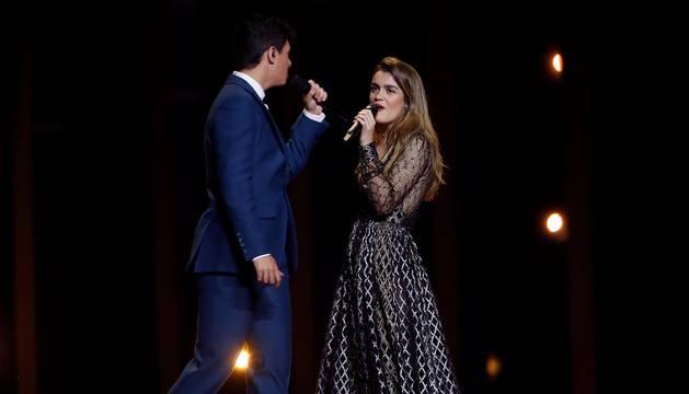 Segundo ensayo de Amaia y Alfred en Eurovisión