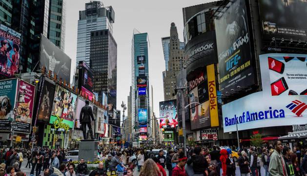 Times Square, en Nueva York, el espacio urbano que mejor representa el concepto de ciudad moderna.