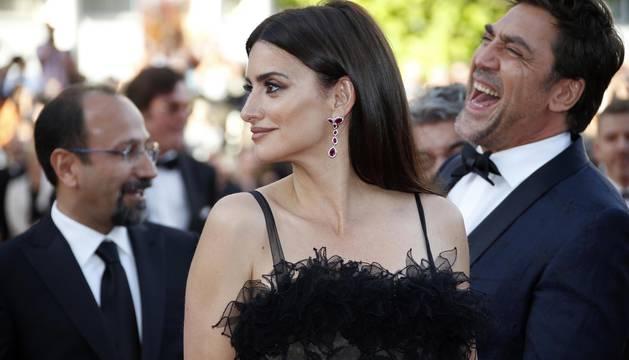 Javier Bardem y Penélope Cruz estrenan 'Todos lo saben' en Cannes