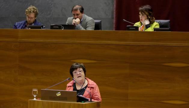 La consejera de Presidencia, Función Pública, Interior y Justicia, María José Beaumont.