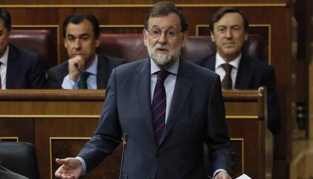Mariano Rajoy, durante la sesión de control al Gobierno