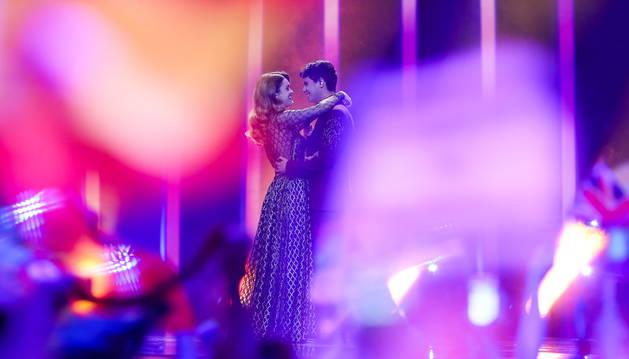 Amaia y Alfred, en la actuación de Eurovisión.