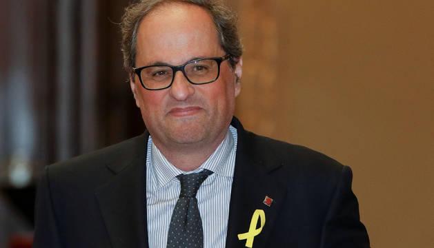 Quim Torra, en el Parlament de Cataluña.