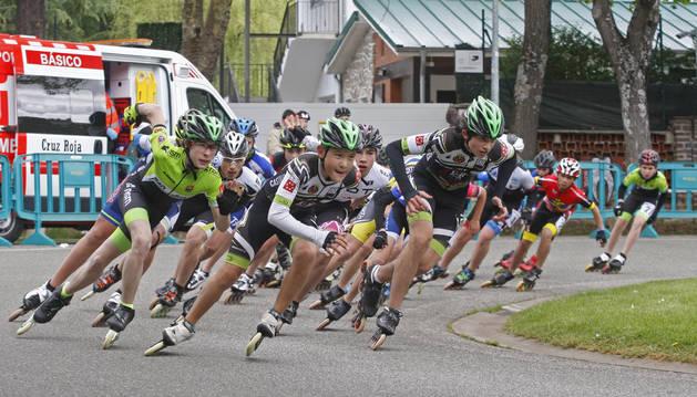 Velocistas en una prueba del campeonato en la jornada del pasado domingo.