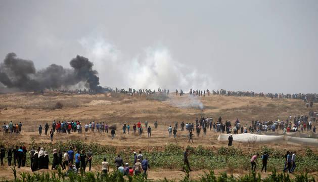 Al menos 28 palestinos heridos por el Ejército israelí en protestas en Gaza