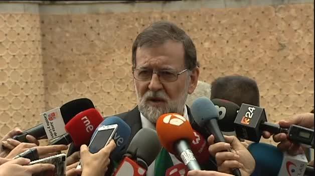 """Rajoy señala que """"la ley se va a cumplir"""" en Cataluña"""