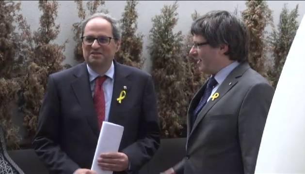 Quim Torra y Carles Puigdemont se reúnen en Berlín