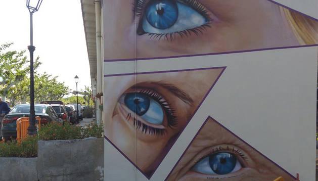 foto de Una de las paredes decoradas durante el festival Most.