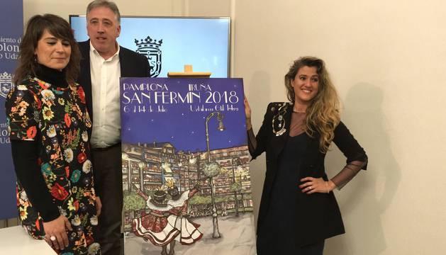 El cartel 'Pamplona, ciudad de luces' anunciará las fiestas de San Fermín 2018
