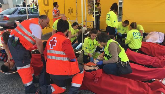 Simulacro de accidente en el Aeropuerto de Pamplona