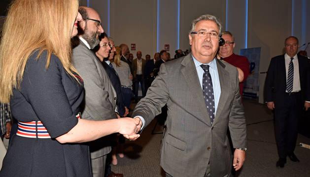 El Ministro del Interior, Juan Ignacio Zoido, a su llegada al acto del IV Congreso de la Confederación Española de Policía
