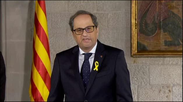 """Torra promete cumplir con sus obligaciones """"con fidelidad a la voluntad del pueblo de Cataluña"""""""