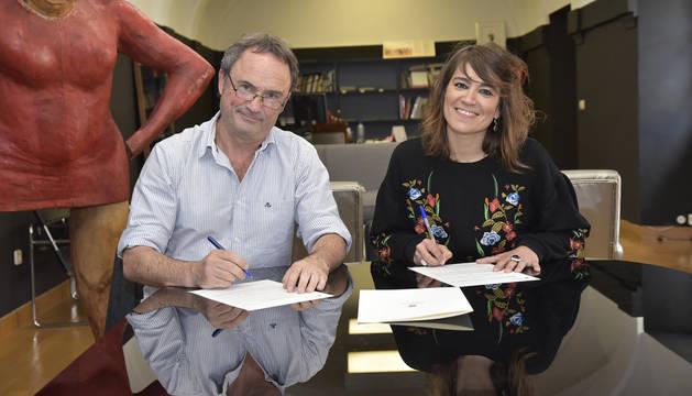 Firmado el convenio entre Ayuntamiento e INTIA por el proyecto de alimentación 'De aquí'