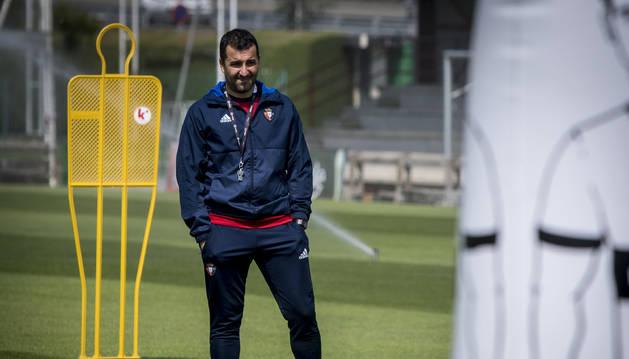 Diego durante le entrenamiento de hoy