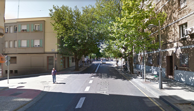 Avenida América, en Zaragoza