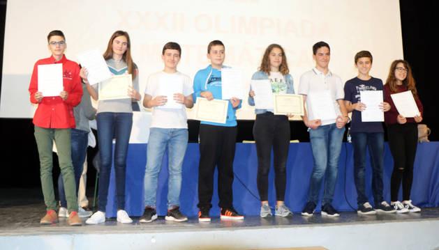 Pablo Asiain y Andrea Urdánoz ganan la Olimpiada Matemática de Navarra