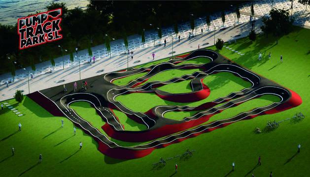 La nueva pista que se ubicará en Trinitarios
