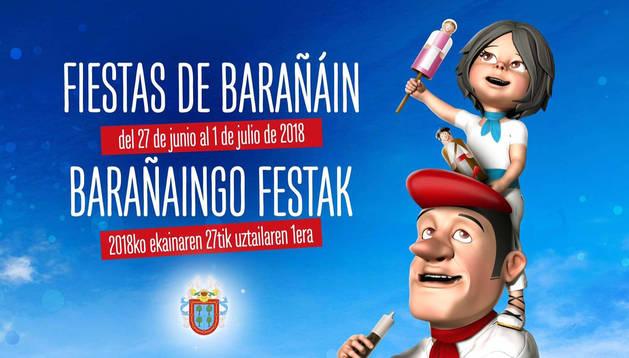 'Ilusión', un cartel del murciano Lucas García, anunciará las fiestas de Barañáin