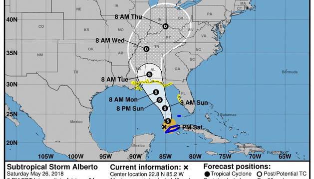 Florida declara el estado de emergencia a medida que se acerca la tormenta 'Alberto'