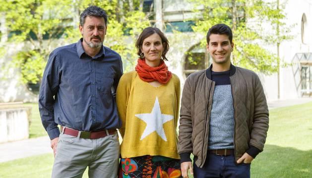 El equipo de BioSmart. De izq. a dcha.: Sergio Díaz de Garayo, María Figols y Xabier Aláez.