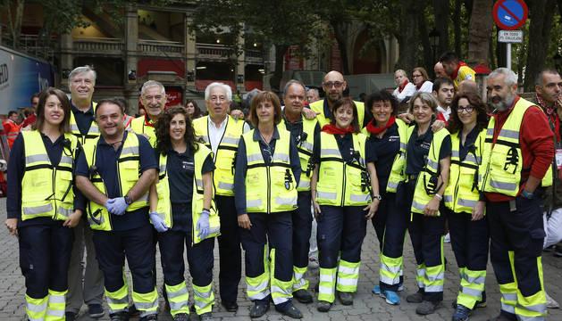 Miembros del dispositivo sanitario de los Sanfermines de 2017.