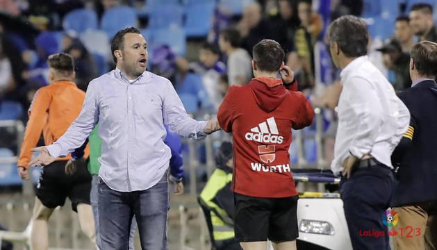 Sergio González en el encuentro ante el Zaragoza
