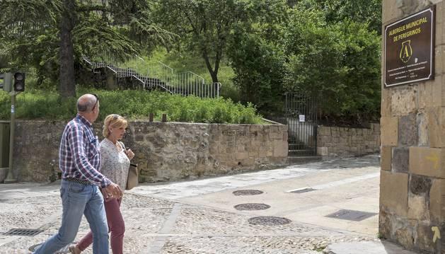 En la imagen, la valla colocada en la desembocadura de las escaleras, próxima a la calle La Rúa.