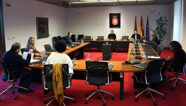 La ponencia creada en el Parlamento para cambiar la ley del euskera, en la sesión del 17 de abril.