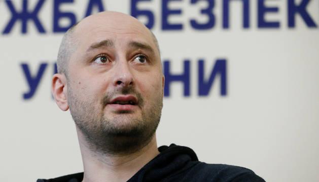El periodista opositor ruso Arkadi Babchenko.