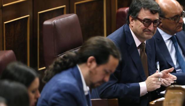Aitor Esteban, en el Congreso de los Diputados.