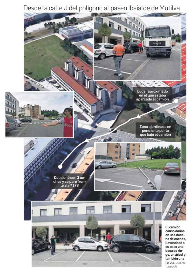 Aparatoso accidente en Mutilva