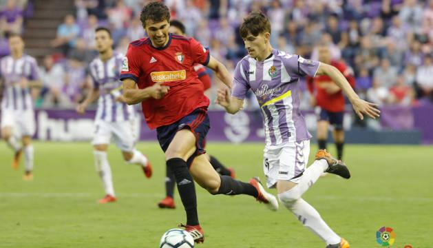 Lucas Torró, en el partido contra el Valladolid.