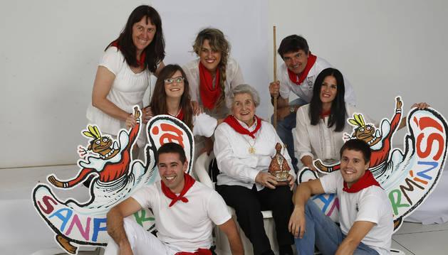 Un grupo de personajes referencia en los Sanfermines con los que Diario de Navarra arrancó esta semana la campaña de apoyo a unas fiestas en positivo.