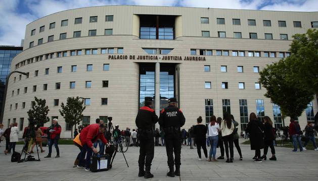 Palacio de Justicia, el día de la lectura del fallo de la sentencia de 'La Manada'.