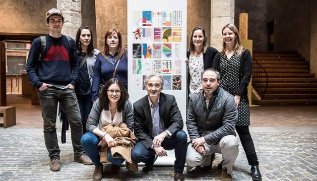 El equipo de Errea Comunicación que trabajó en Pamplona infográfica.