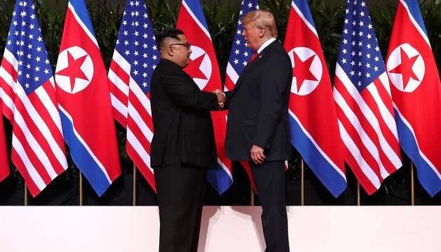 Trump dice que la cumbre con Kim ha ido