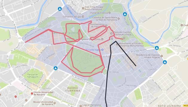 Mapa de las afecciones de tráfico este sábado, 16 de junio.
