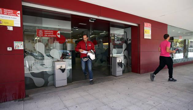 Imagen de la oficina del Servicio Navarro de Empleo de Tudela.